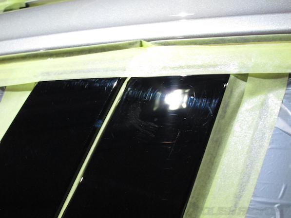 フォルクスワーゲン ゴルフヴァリアントのにガラスコーティング施工傷画像