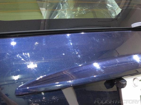 BRABUS エクスクルーシブ エディション ミッドナイトブルーにガラスコーティング施工線傷画像