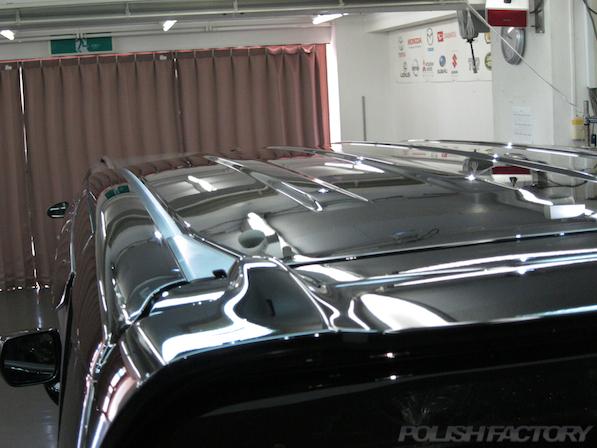 ホンダ N BOXカスタムガラスコーティング施工ルーフ画像