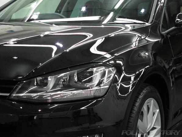 VW フォルクスワーゲン ゴルフヴァリアントにガラスコーティング施工画像