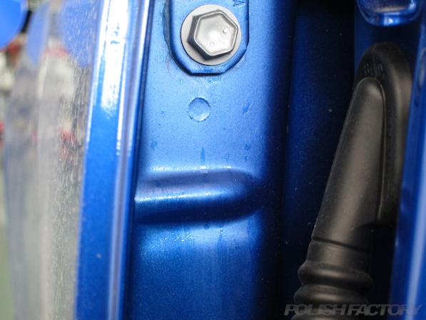 スバル WRX STI Type Sガラスコーティング施工ドア内側画像