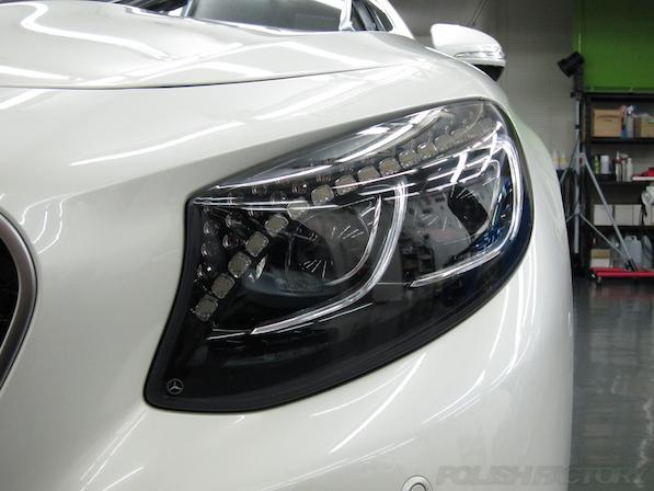 メルセデス・ベンツ S63 AMG 4マチッククーペにガラスコーティング施工、スワロフスキー画像