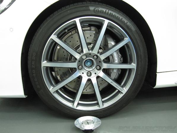 メルセデス・ベンツ S63 AMG 4マチッククーペにガラスコーティング施工、ホィール画像