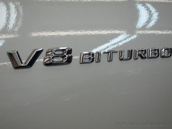 メルセデス・ベンツ S63 AMG 4マチッククーペにガラスコーティング施工、エンブレム画像
