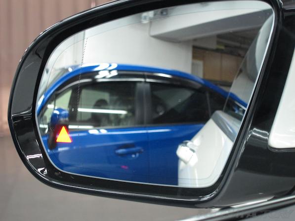 メルセデス・ベンツ S63 AMG 4マチッククーペにガラスコーティング施工、ドアミラー画像