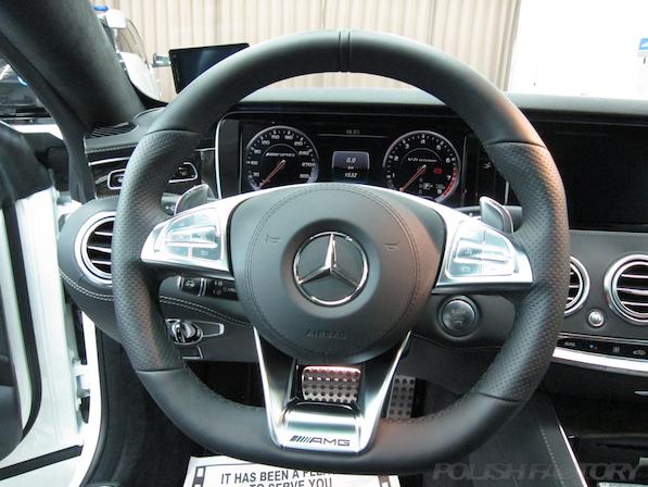 メルセデス・ベンツ S63 AMG 4マチッククーペにガラスコーティング施工、ハンドル画像