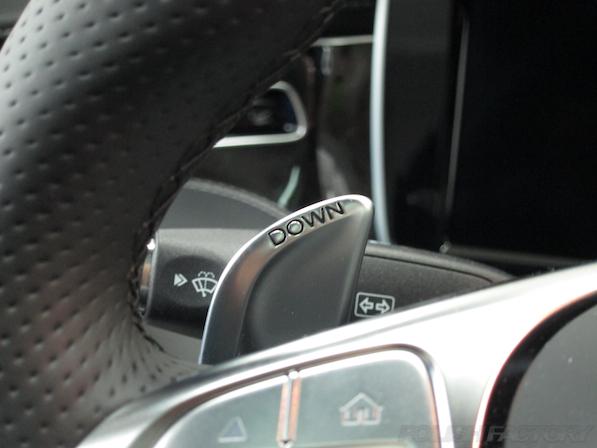 メルセデス・ベンツ S63 AMG 4マチッククーペにガラスコーティング施工、パドルシフト画像