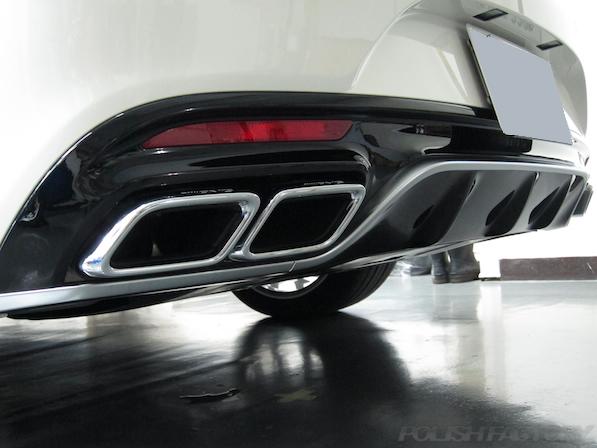 メルセデス・ベンツ S63 AMG 4マチッククーペにガラスコーティング施工、マフラー画像