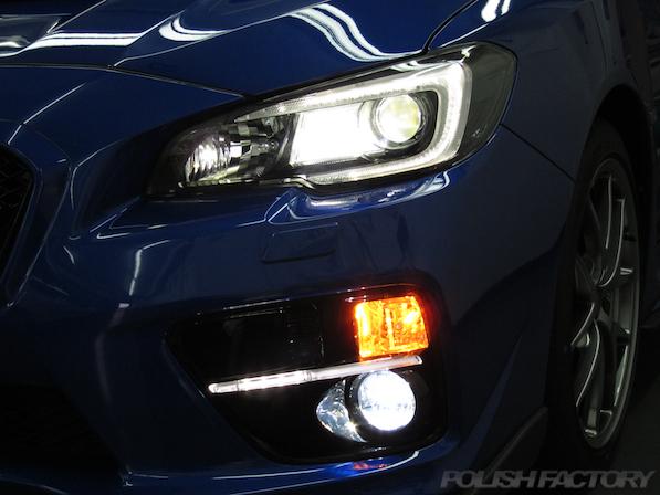 スバル WRX STI Type Sガラスコーティング施工ライト画像
