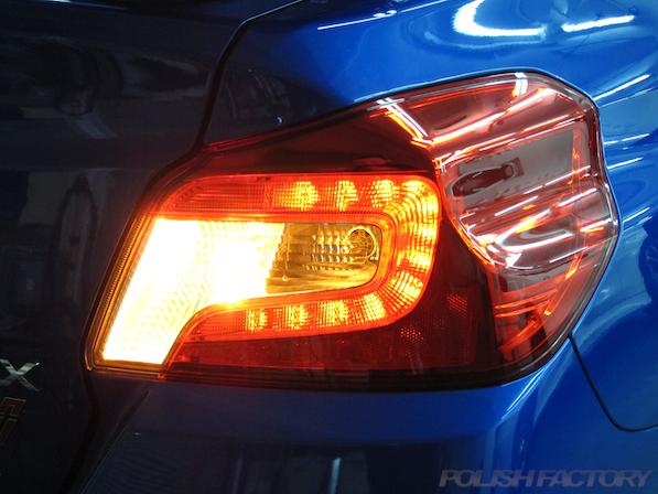スバル WRX STI Type Sガラスコーティング施工テールレンズ画像
