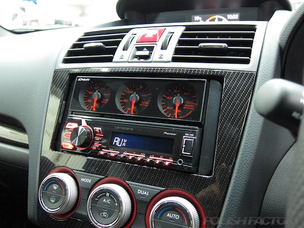 スバル WRX STI Type Sガラスコーティング施工センターコンソール画像