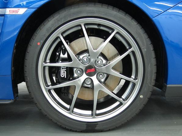 スバル WRX STI Type Sガラスコーティング施工アルミホィール画像