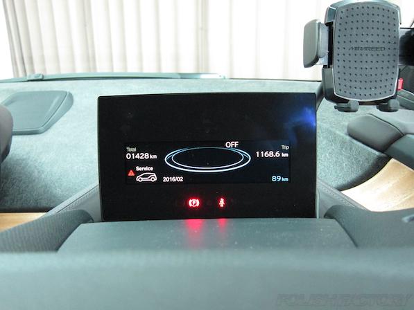 BMW i3 レンジエクステンダー装着車ガラスコーティング施工メーター画像