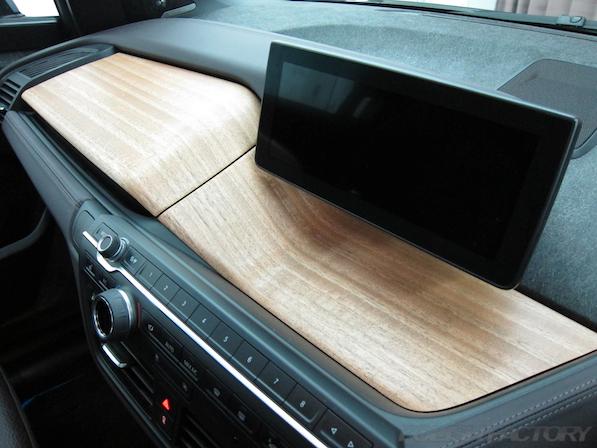BMW i3 レンジエクステンダー装着車ガラスコーティング施工ユーカリウッド画像