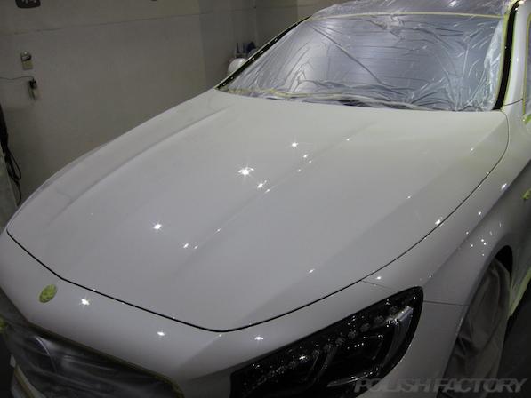 メルセデス・ベンツ S63 AMG 4マチッククーペにガラスコーティング施工画像