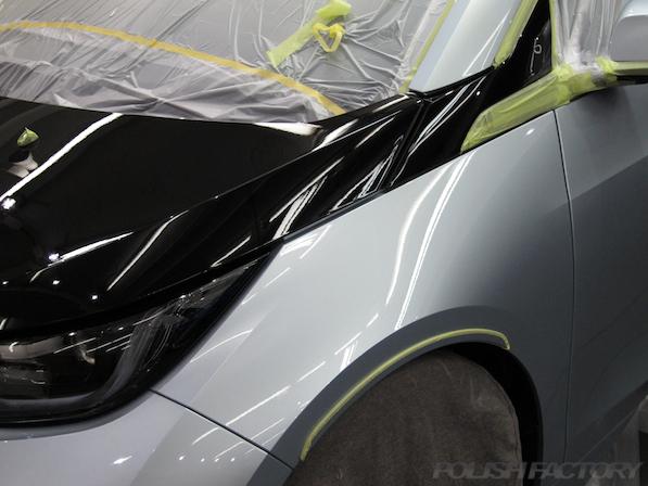 BMW i3 レンジエクステンダー装着車ガラスコーティング施工画像