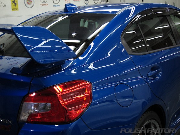 スバル WRX STI Type Sガラスコーティング施工綺麗な画像
