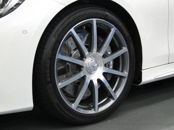メルセデス・ベンツ S63 AMG 4マチッククーペにガラスコーティング施工アルミホィールコーティング画像