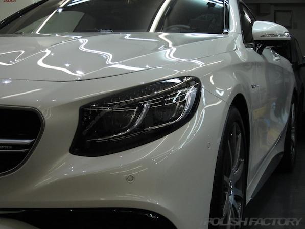 メルセデス・ベンツ S63 AMG 4マチッククーペにガラスコーティング施工仕上がり画像