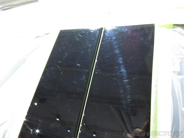 メルセデス・ベンツ B250のガラスコーティング施工時の傷画像