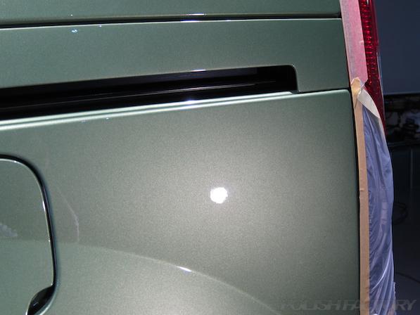 ルノー カングー ペイザージュの新車のガラスコーティング施工傷削除の画像