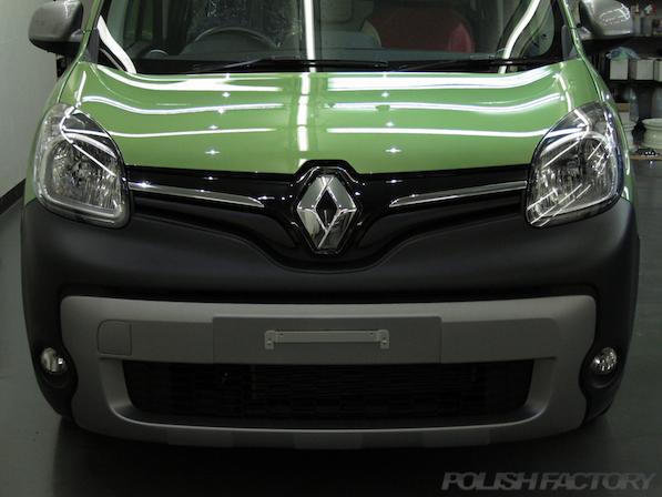 ルノー カングー ペイザージュの新車のガラスコーティング施工後の画像