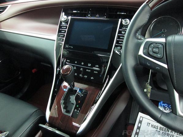 トヨタ ハリアー新車にガラスコーティング施工時のナビ画面画像