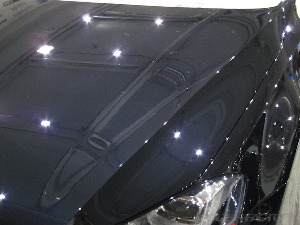 VW ゴルフ 7 GTIにガラスコーティング施工、下地処理後画像