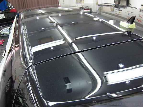 VW ゴルフ 7 GTIにガラスコーティング施工、下地処理後のルーフ画像