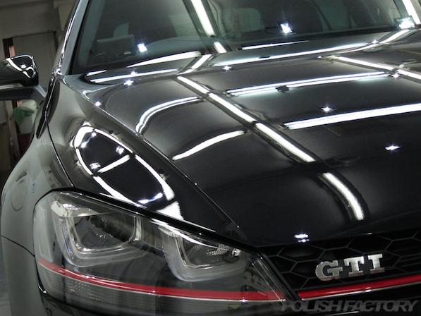 VW ゴルフ 7 GTIにガラスコーティング施工、コーティング後の画像