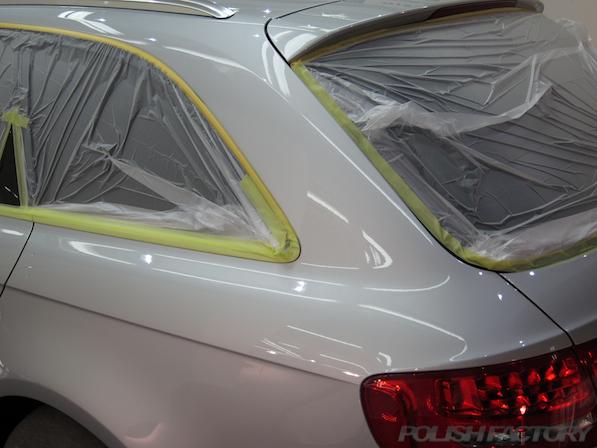 アウディA4ガラスコーティング施工画像