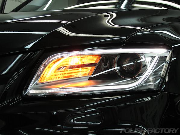 アウディSQ5にガラスコーティング施工、ヘッドライト画像