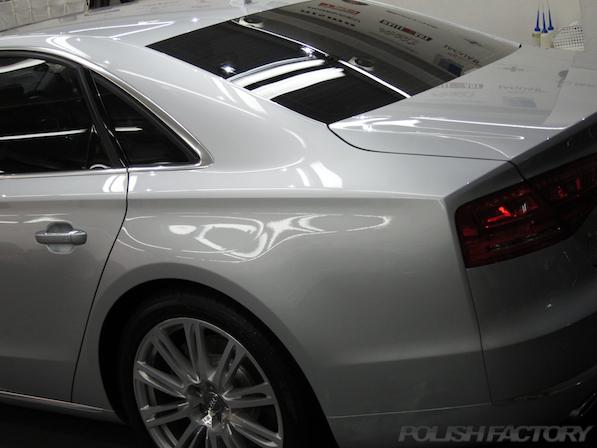 AudiA8ガラスコーティング施工画像