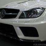 C63 AMG Coupe Black serieコーティング施工画像