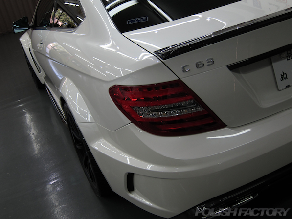 C63 AMG Coupe Black serieコーティング施工画像