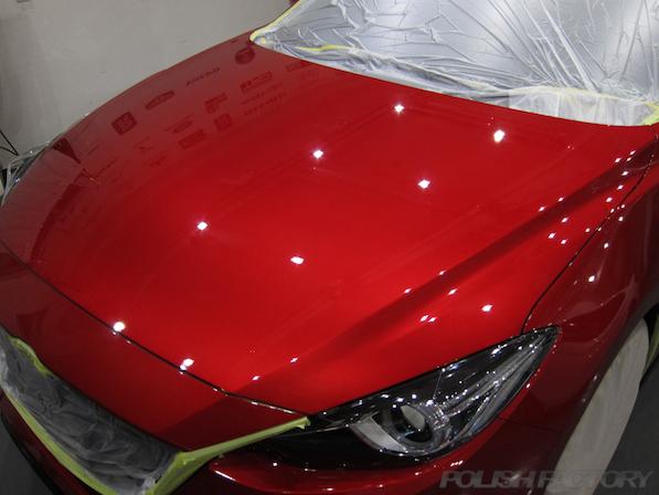 マツダ アクセラスポーツ ツーリング 20SーLPackageガラスコーティング施工画像