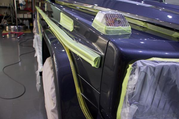 メルセデス・ベンツ Gクラス (W463)G350ガラスコーティング施工画像