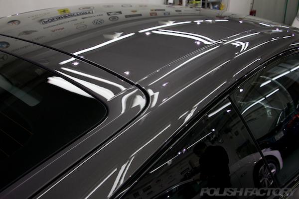 ポルシェケイマンGTSの新車にコーティング施工時の画像