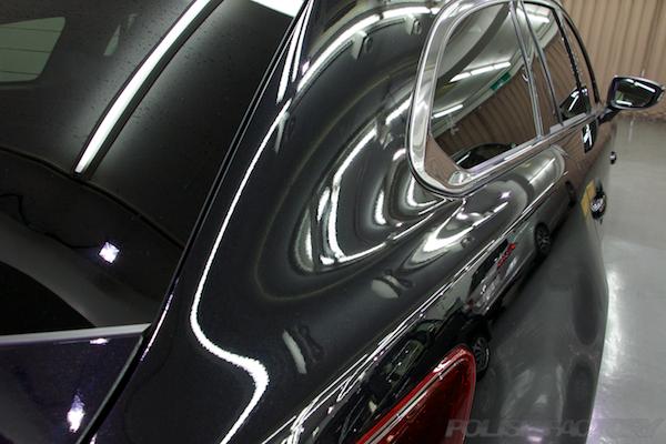 マツダ MAZDA アテンザワゴンガラスコーティング施工サイドライン画像