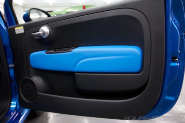 フィアット500Sツインエアー5MTにガラスコーティング施工内張画像