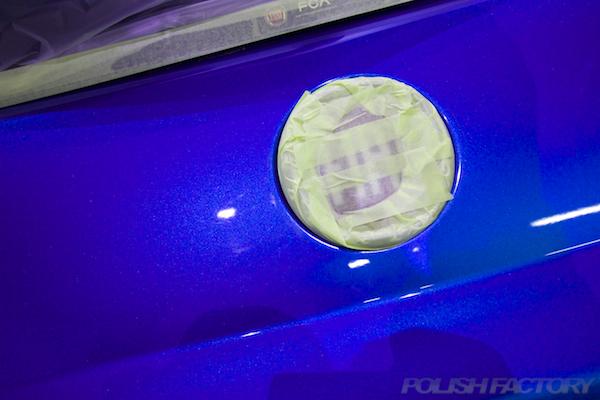フィアット500Sツインエアー5MTにガラスコーティング施工線傷画像