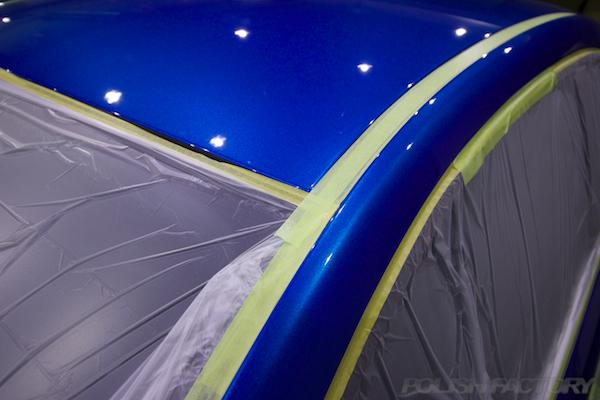 フィアット500Sツインエアー5MTにガラスコーティング施工磨き下地処理画像