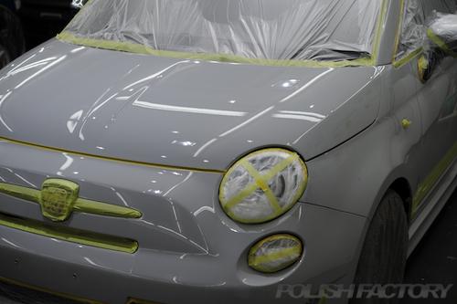 アバルト595_磨きガラスコーティング画像
