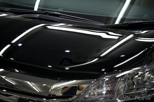 ヴェルファイアハイブリッド_新車磨きガラスコーティング