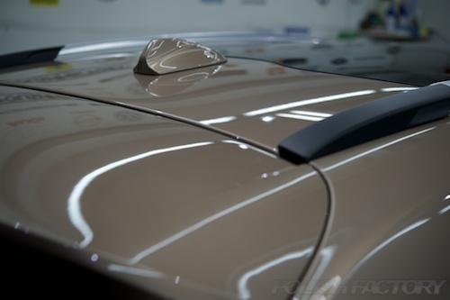 ボルボV40CC_磨きガラスコーティング画像