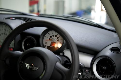 ミニクーパー_新車ガラスコーティング画像