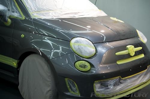 アバルト595C_新車ガラスコーティング画像
