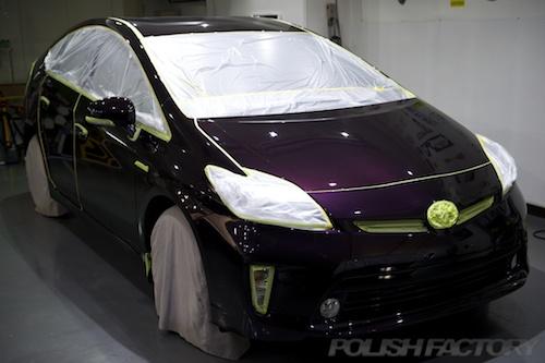 プリウス_新車ガラスコーティング施工画像