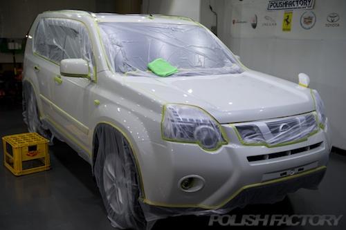 エクストレイル_新車ガラスコーティングミリオンコート施工画像