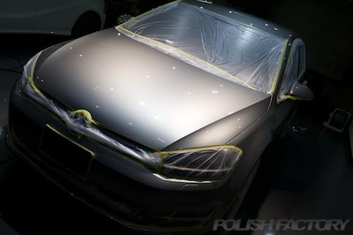 ゴルフ7_新車磨きガラスコーティング画像